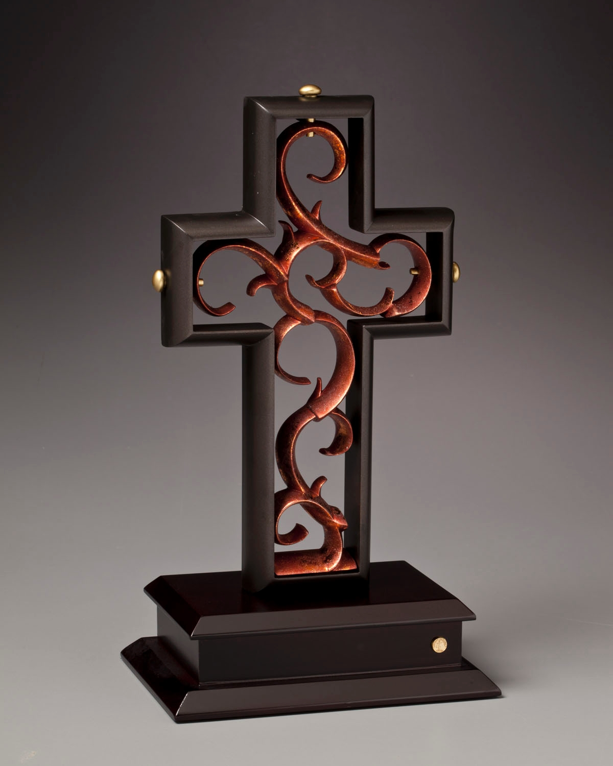 1 The Unity Cross LIMITED EDITION Rubbed Bronze Copper Leaf