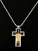 """Risen"" Sterling Silver Cross"